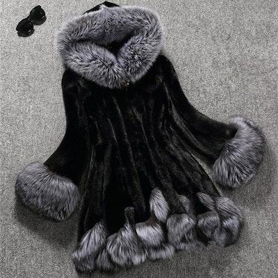Winter Hooded Faux Fur Overcoat