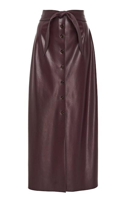 Arfen High-Waist Button-Front Skirt