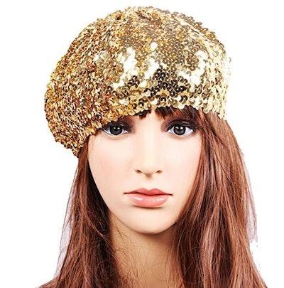 L'VOW Sequin Beanie Hat
