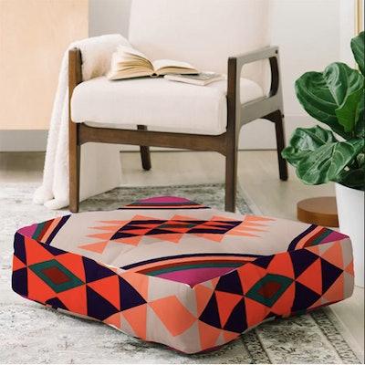 Zoe Wodarz Southwest Pin Dot Square Floor Pillow
