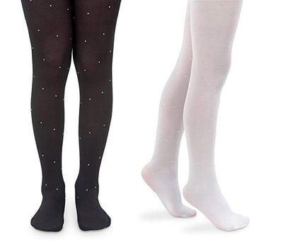 Jefferies Socks Ballet Pearl And Diamond Design Nylon Tights