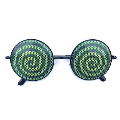 Hypnotic Swirl Round Sunglasses