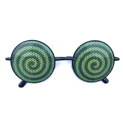Hypnotic Swirl Round Sunglasses
