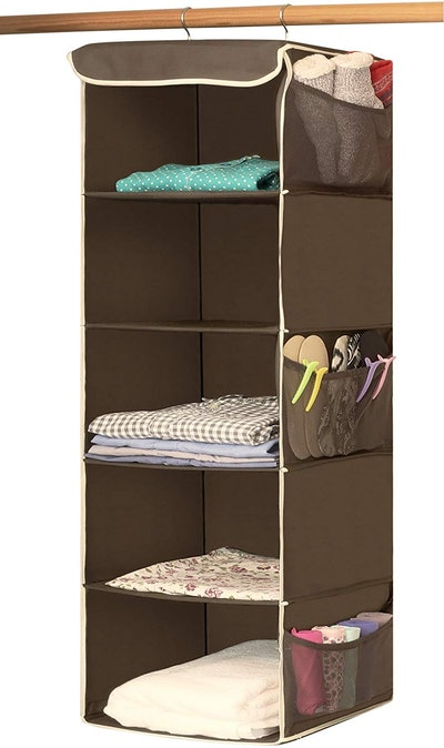 Simple Houseware 5 Shelves Hanging Closet Organizer