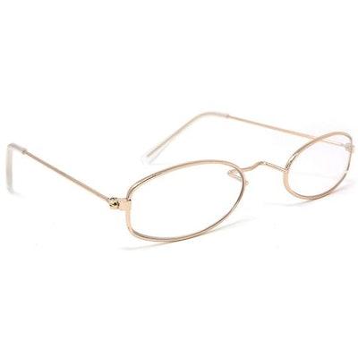 Gold Oval Granny Dress Up Eyeglasses