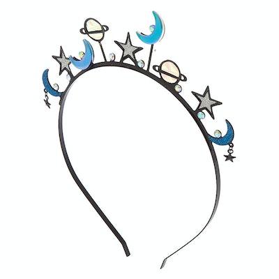 Holographic Galaxy Crown Headband