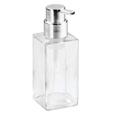 mDesign Modern Square Glass Foaming Hand Soap Dispenser (2-Pack)