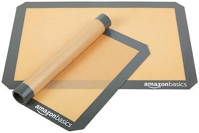 AmazonBasics Silicone Baking Mat Sheet (2-Pack)