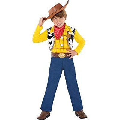 Toy Story Woody Halloween Costume for Toddler Boys, 3-4T, with Included Accessories