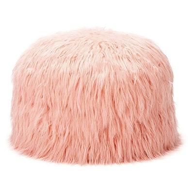 Himalaya Faux Fur Storage Pouf