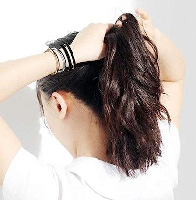 Zuo Bao Stainless Steel Bracelet & Hair Elastic Holder