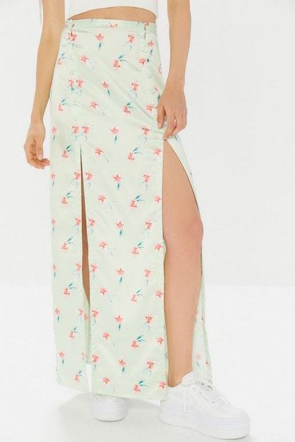 Alexia Floral Front-Slit Maxi Skirt