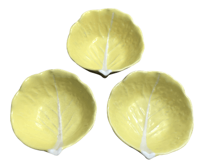 Vintage Secia Yellow Cabbage Ware Bowls (set of 3)