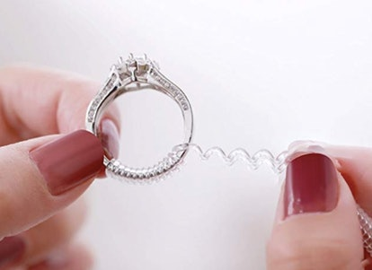 Ring Size Adjuster with Silver Polishing Cloth (4-Pack)