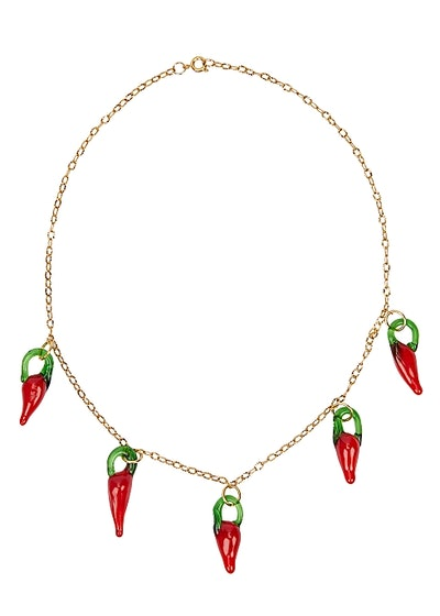 Chillies Gold-Plated Necklace