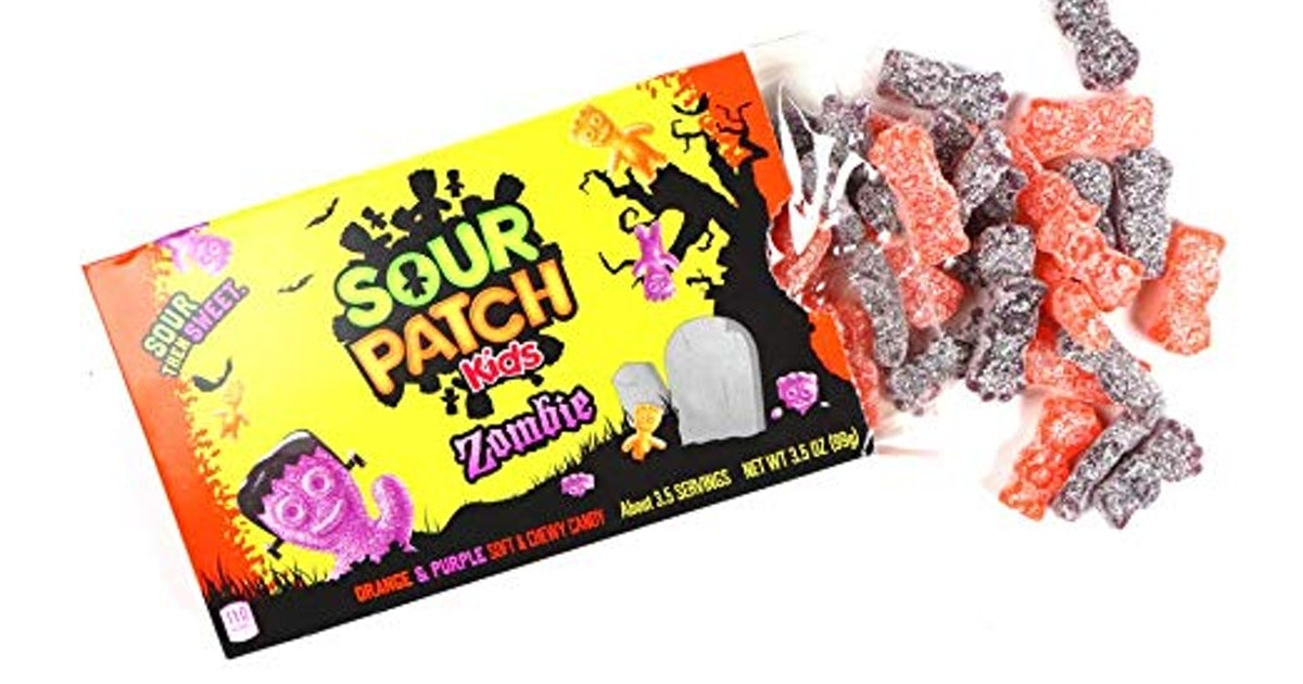 Sour Patch Kids Zombies Have Arrived In Orange And Purple Spookiness
