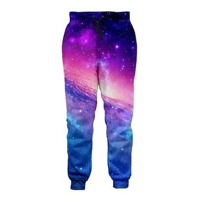 Jogger Pants Colorful Galaxy Pattern