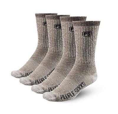 PEOPLE SOCKS Merino Wool Crew Socks (4-Pack)