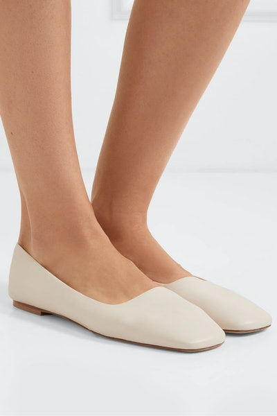 Beau Leather Ballet Flats
