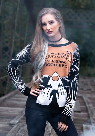 Celestial Spirit Board Adult Halloween Sweater