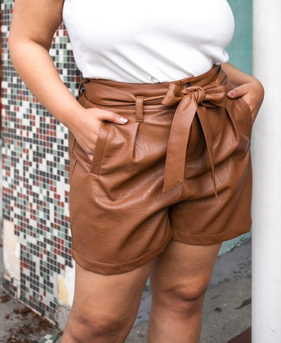 Vegan Pleather Shorts