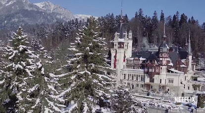 The Aldovian royal castle, as seen in Netflix's 'A Christmas Prince.' Photo Courtesy of Netflix.
