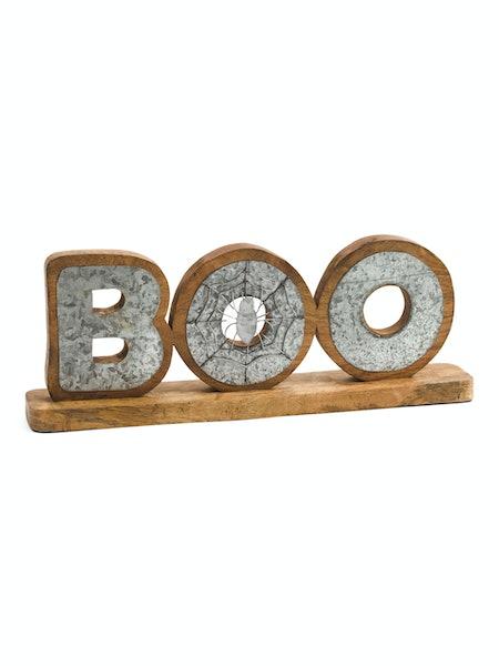 Metal Boo Table Décor