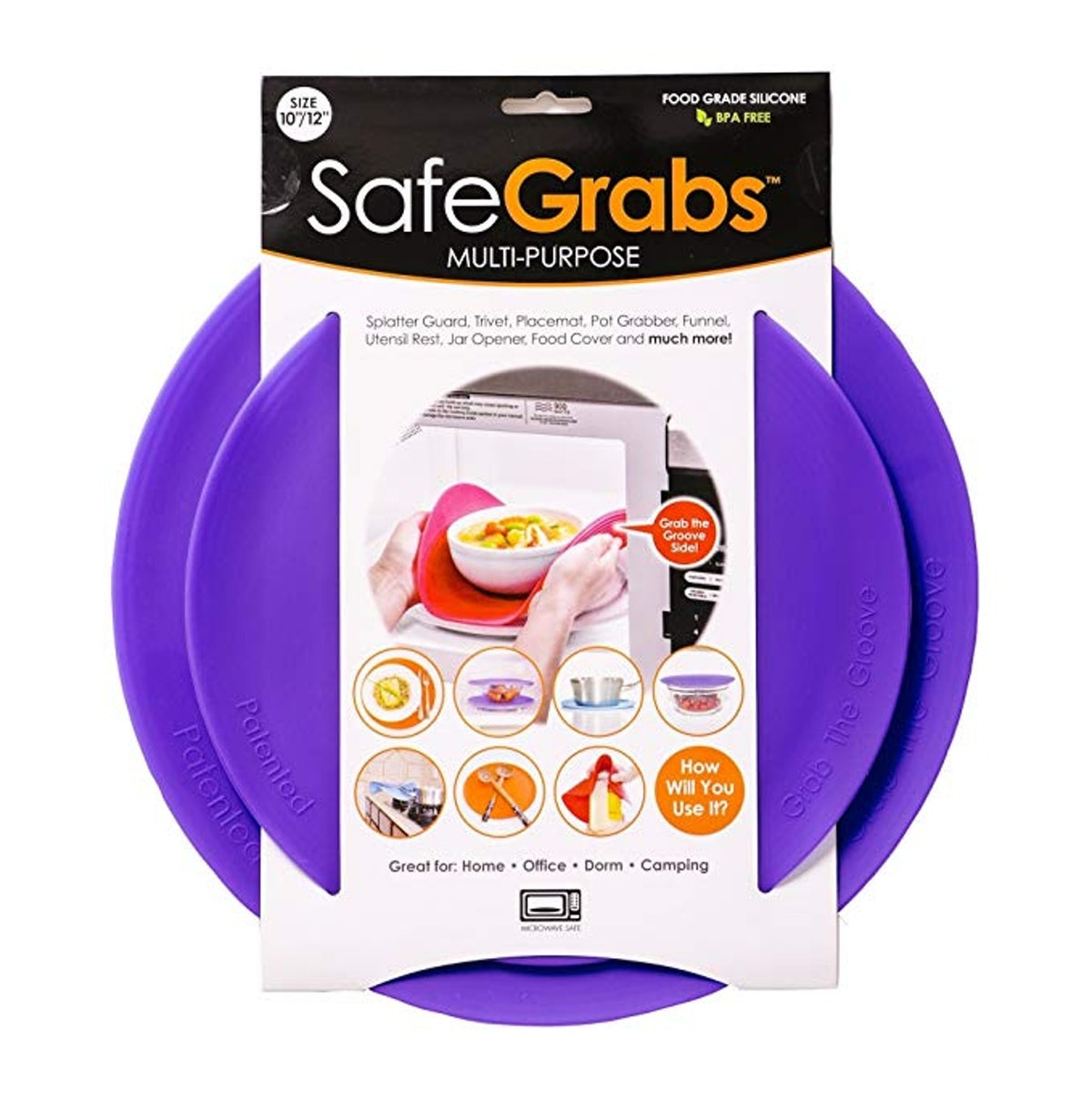 Safe Grabs Multi-Purpose Silicone Microwave Mat (2-Pack)