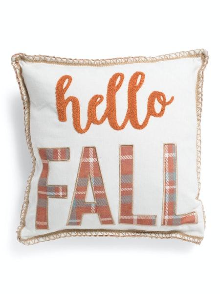 """""""Hello Fall"""" Pillow"""