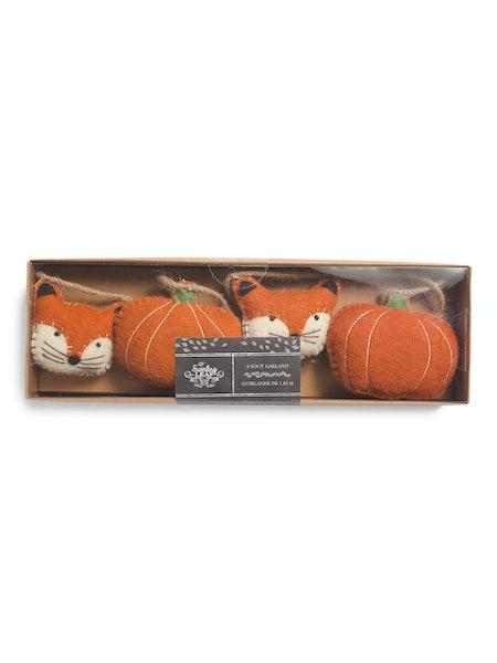 Fox Head and Pumpkin Garland