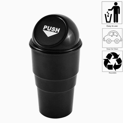 Car Cup Holder Trash Can