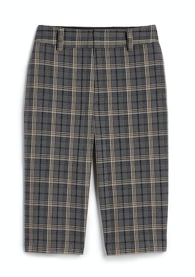 High Waisted Plaid Bermuda Shorts