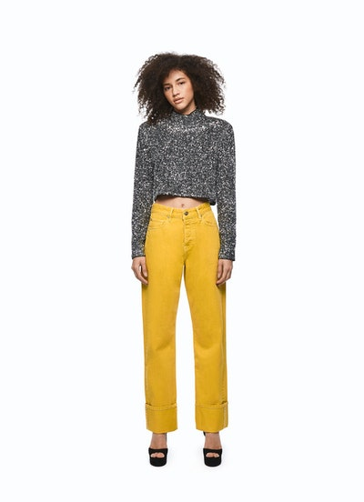 Relaxed Coloured Denim Jeans