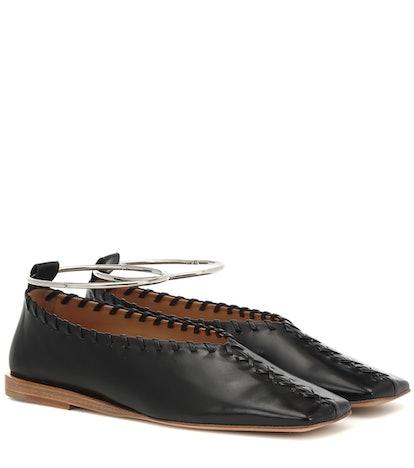 Anklet Leather Ballet Flats