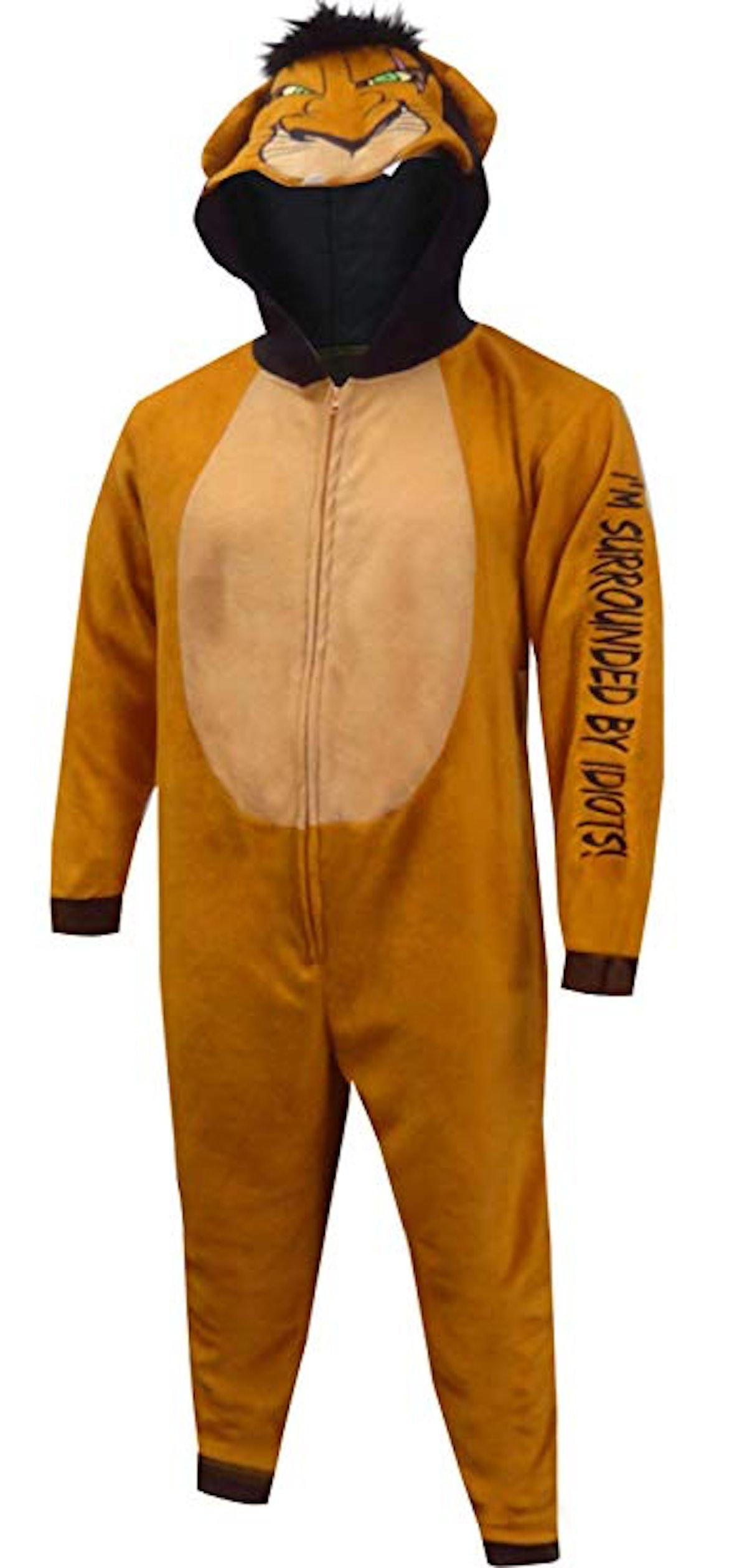 Men's Lion King Scar the Villain Onesie Pajama