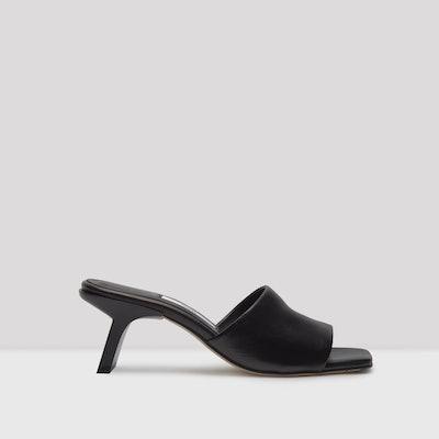 Gabriella Black Leather Sandals