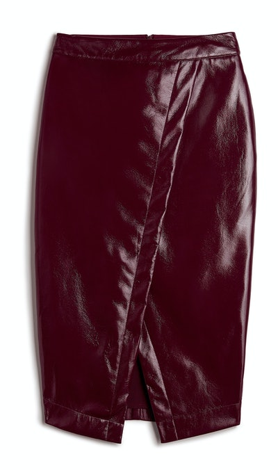 High Waisted (Minus The) Leather Wrap Pencil Skirt