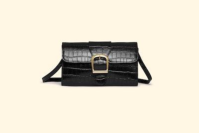 Black Croc Emboss Small Bag