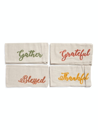 Harvest Words Napkins