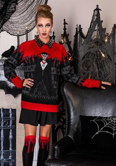 Adult Dracula Vampire Halloween Sweater