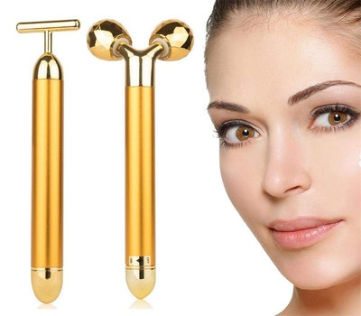 AMULISS Gold Vibrating Facial Rolling Bar (2-Pack)