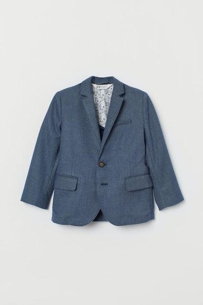 Textured-Weave Blazer