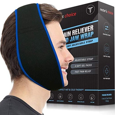 Rester's Choice Face Ice Pack for Wisdom Teeth, Jaw, & Chin