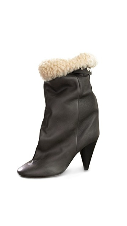 Lakfee Shearling Wrinkled Boots
