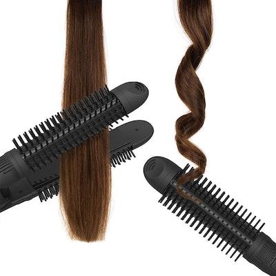 xtava 3-in-1 Hair Straightener, Curler, and Brush