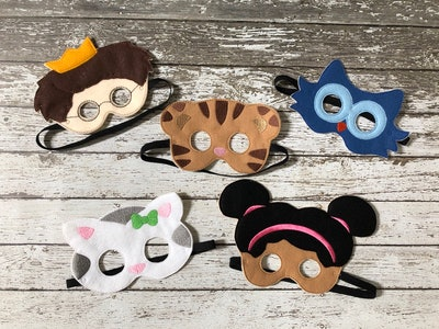 Daniel Tiger Inspired Masks