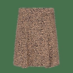 Flounce Leopard Print Mini Skirt