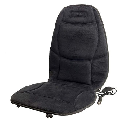 HealthMate Velour Heated Seat Cushion with Lumbar Support