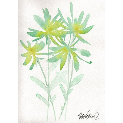 Mint Botanical Watercolor Painting