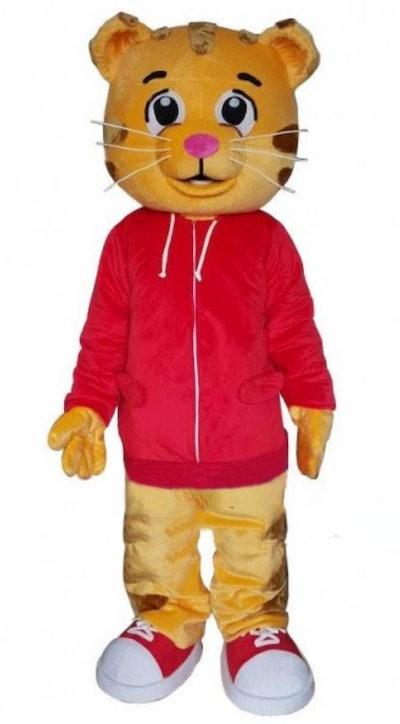 Cartoon Tiger Mascot Costume